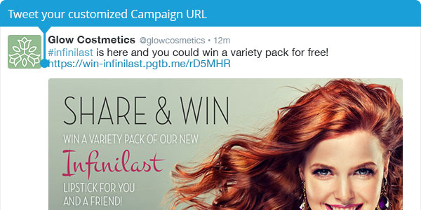 Tweet your customized Campaign URL