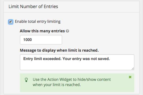 Set Entry Limits