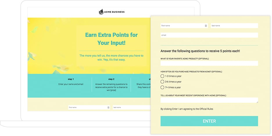 Earn Extra Points Template