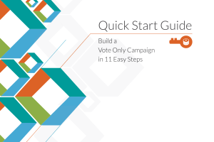 Build a Vote Only Campaign in 11 Easy Steps