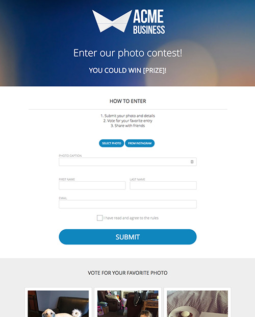 Photo Vote Contest