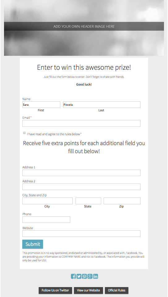 10 Free Contest Templates for Your Next Social Media Promotion ...