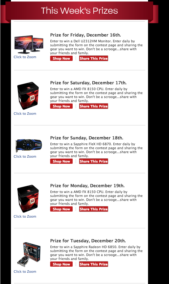 AMD Holiday Giveaway