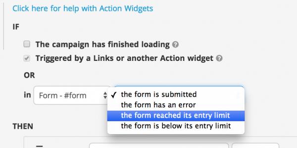 Action Widget