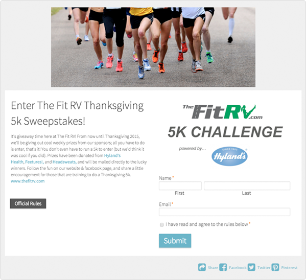 5K Fitness Challenge Giveaway