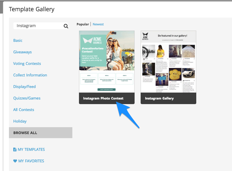 How To Build An Instagram Photo Vote Contest - Photo contest website template