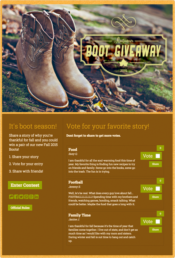 What are You Thankful For Story Contest