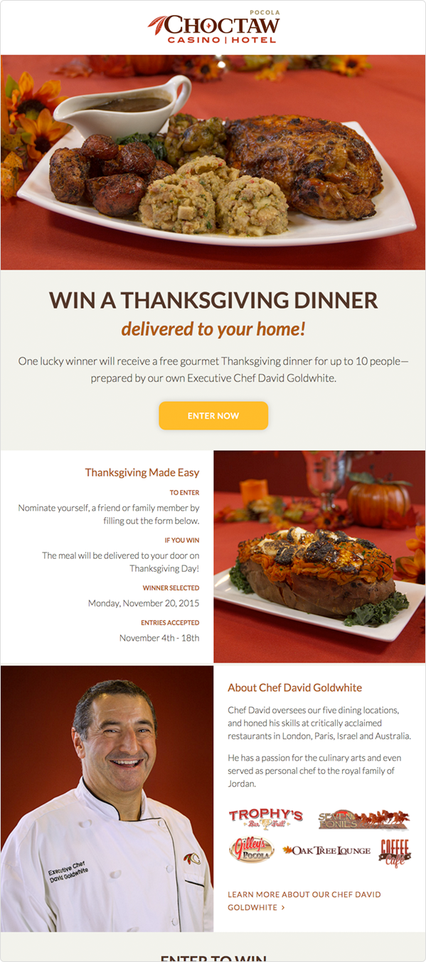 Choctaw Dinner Delivered Giveaway