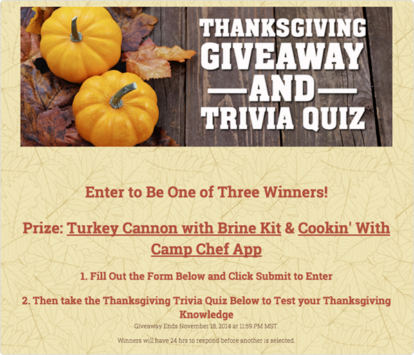 Thanksgiving Trivia Quiz
