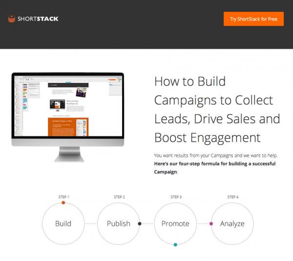 ShortStack Landing Page - free users