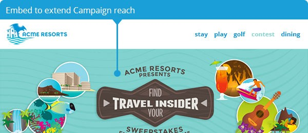 Embed to extend Campaign reach