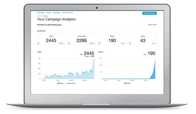 ShortStack features analytics