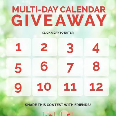 Multi-Day Calendar Giveaway