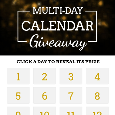 Multi-Day Calendar Giveaway