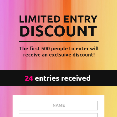 Limited-Entry Discount Template