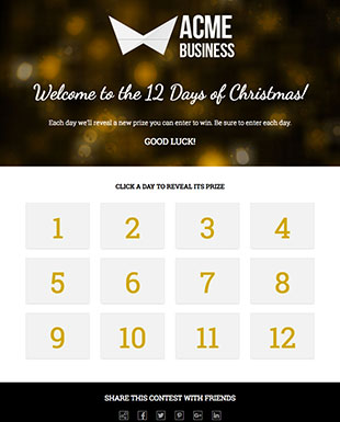 Multi-Day Giveaway Calendar Template