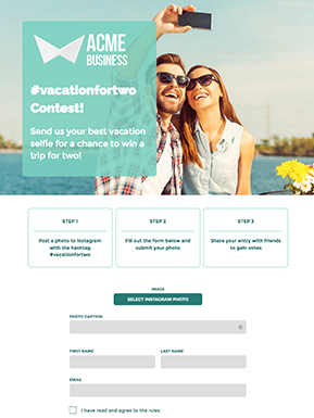 Instagram Photo Contest Template