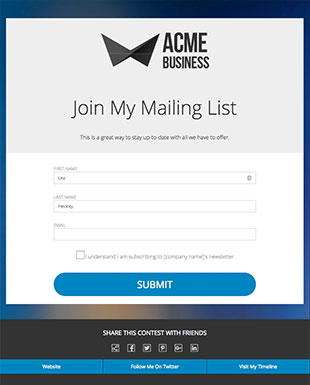 Newsletter Signup Template