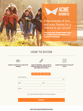 Refer-a-Friend Photo Contest Template