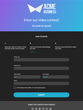 Basic Video Contest Template