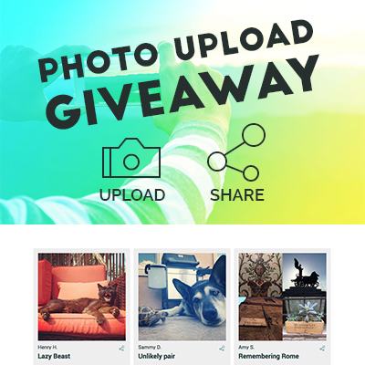 Photo Upload Giveaway Template