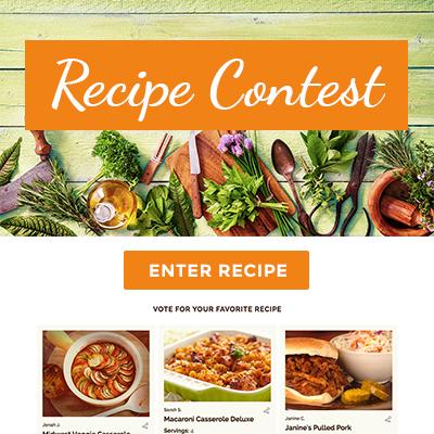Recipe Contest Template