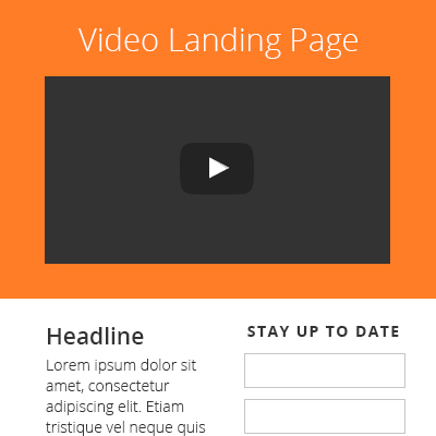 Video Landing Page Template