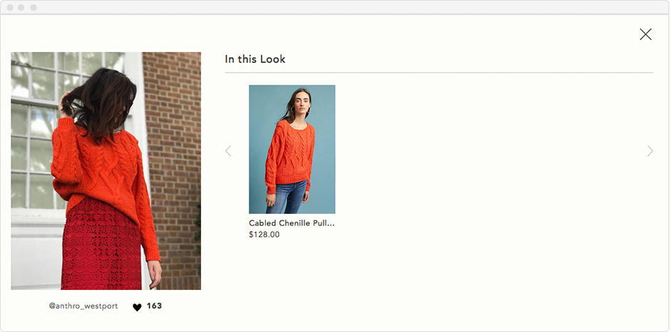 Anthropologie's User-Generated Content