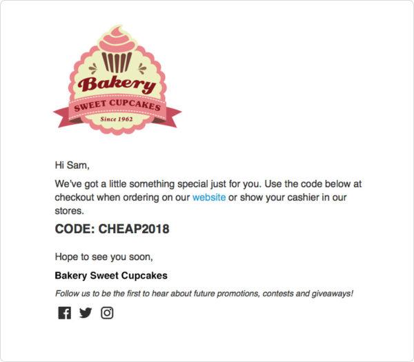 Scheduled Discount Code template