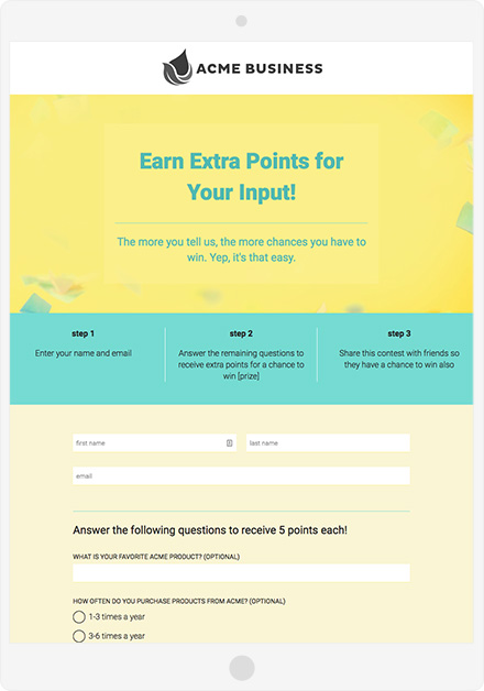 Earn Extra Points Example