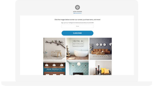 Instagram Interactive Gallery Template
