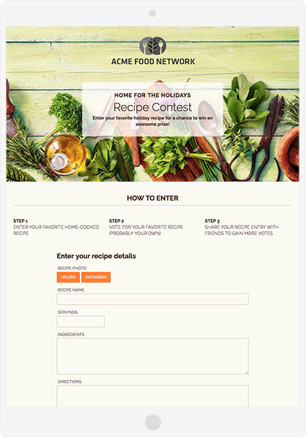 Recipe Contest Template