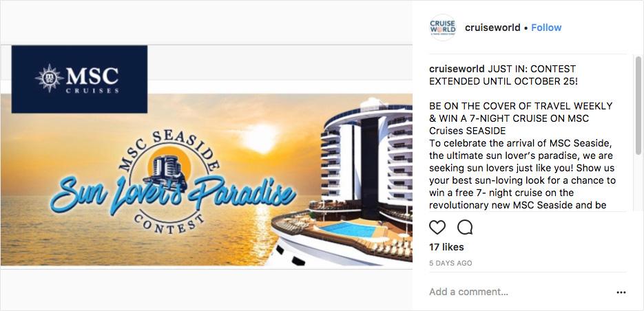 Cruise World Example