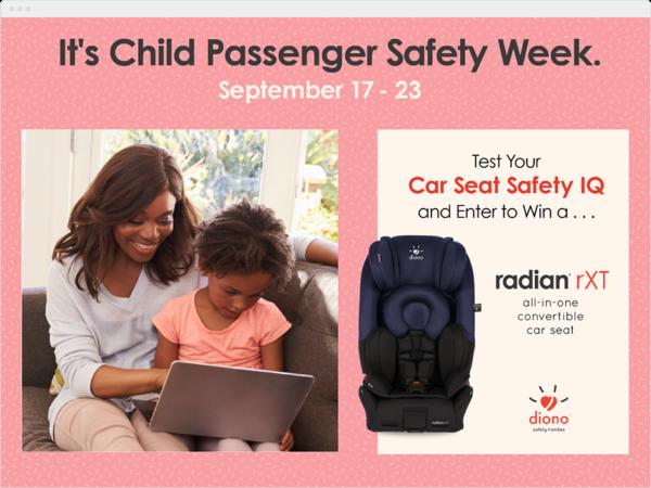 Diono Car Seat Safety Quiz