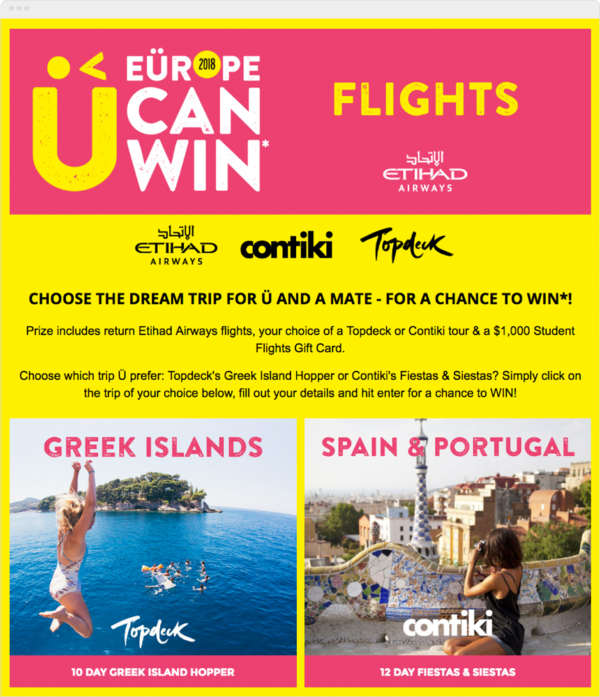 Pick Your Trip Contest