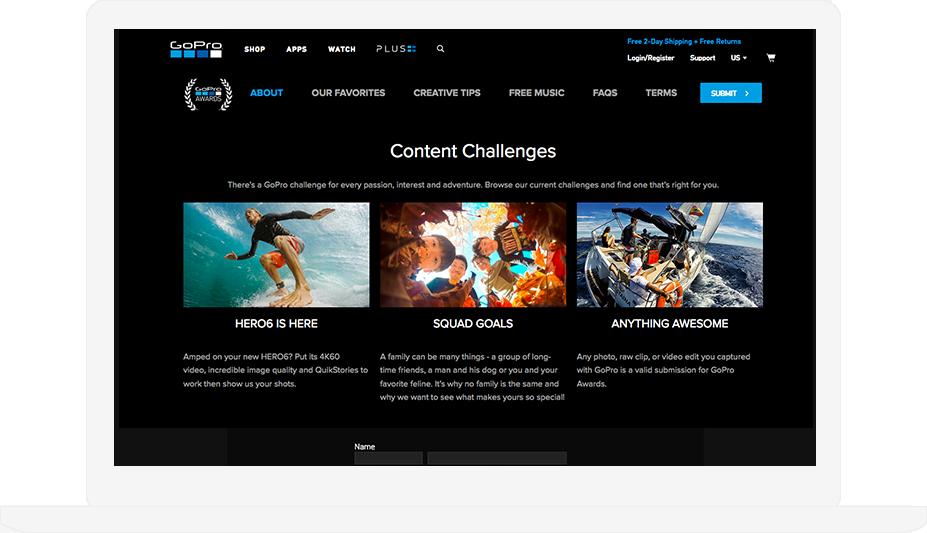 GoPro Content Challenges