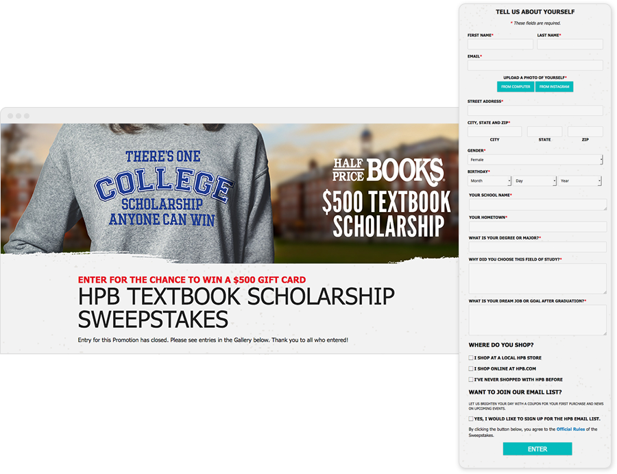 Textbook Scholarship Contest