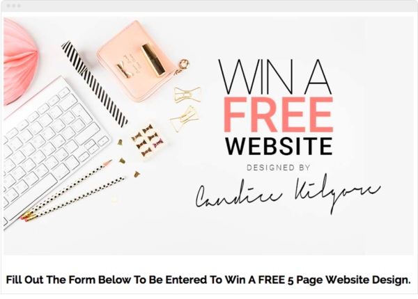 Website Design Giveaway