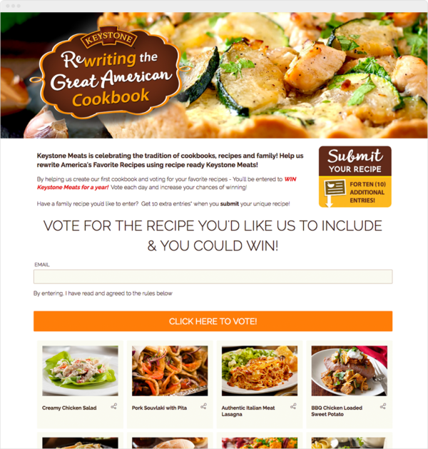 Create a facebook contest to inspire fans to bond with your brand keystone meats recipe contest forumfinder Choice Image