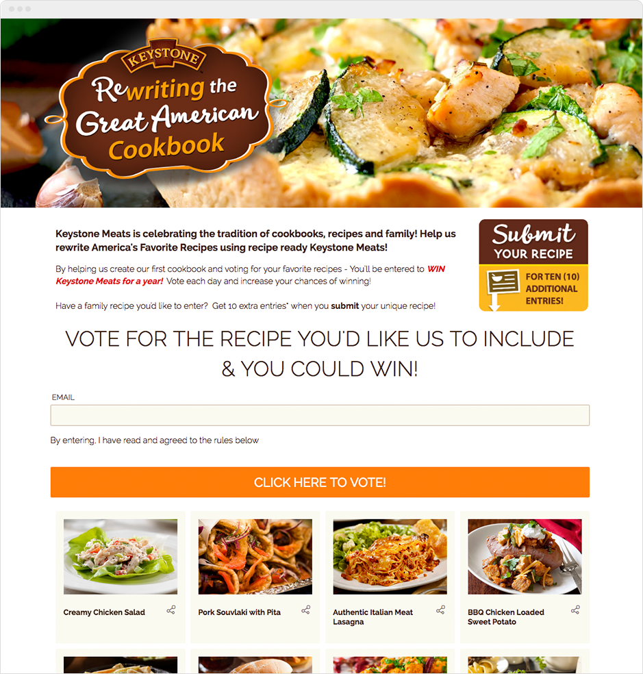 Keystone Meats Recipe Contest