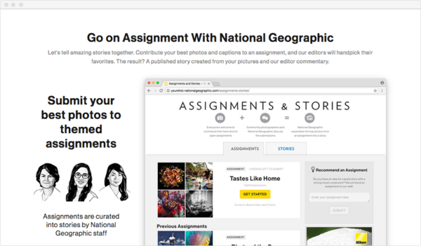 National Geographic's Go on Assignment Page