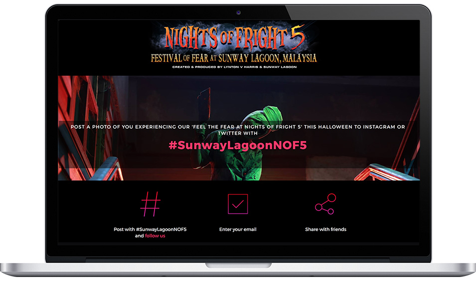 "Sunway Lagoon's ""Nights of Fright"" Hashtag Campaign"