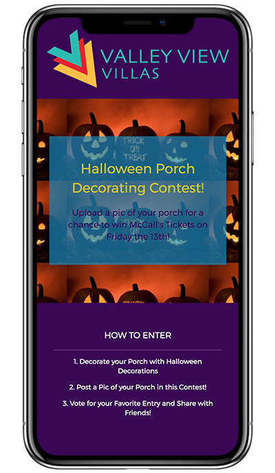 Valley View Villas' Halloween Porch Decorating Competition