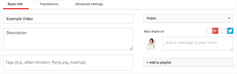 Add keywords to your YoutTube videos