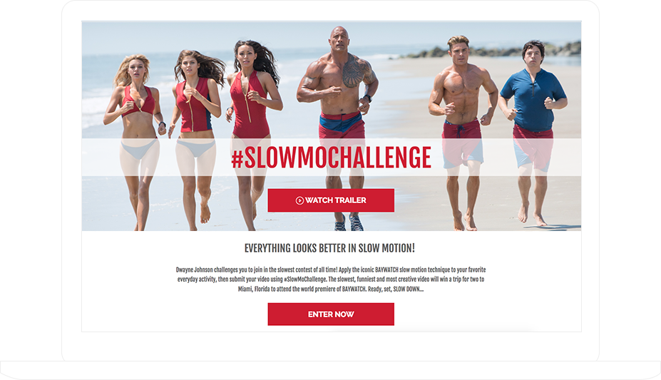 User-Generated Hashtag Contest for the Baywatch movie