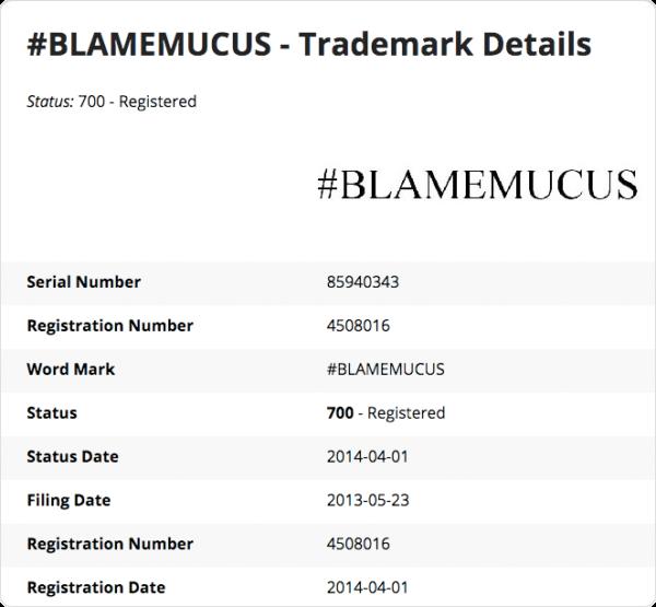 Blame Mucus hashtags