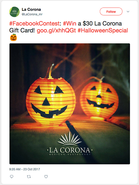 Twitter post by Corona