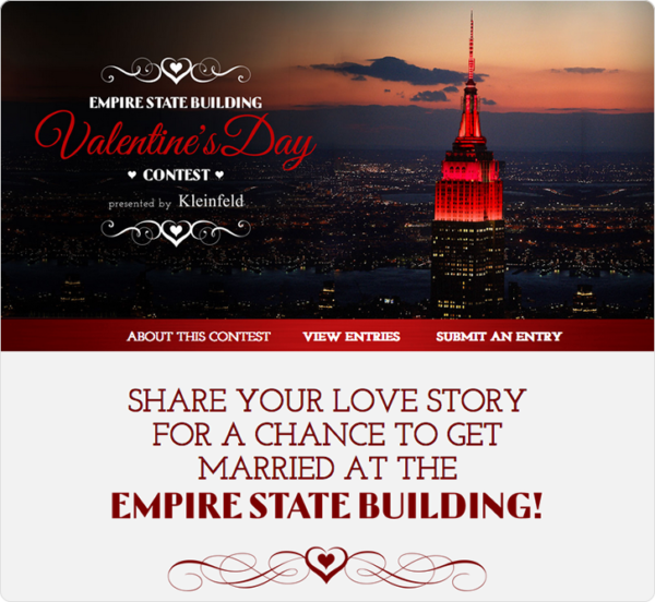 Empire State Building's Valentine's Day contest