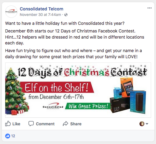 Contest themed for the holidays
