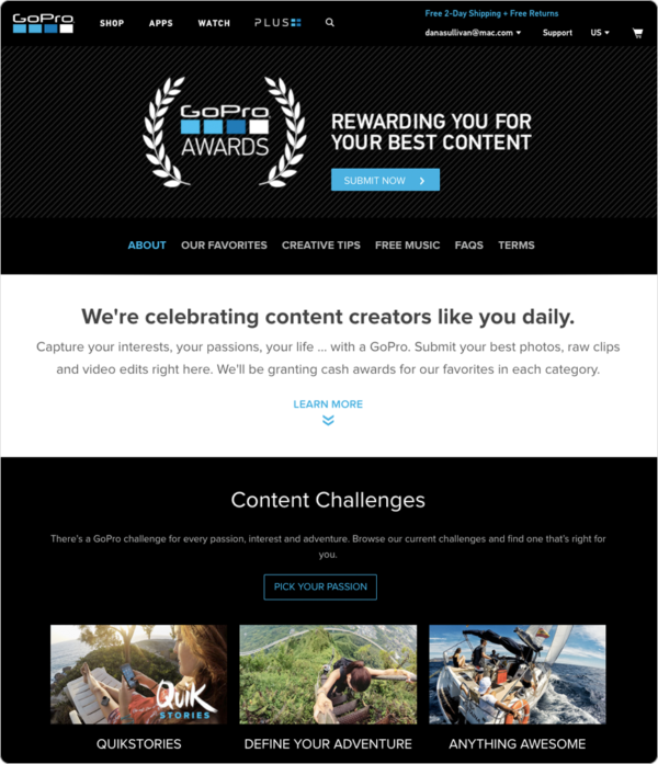 GoPro UGC Contest